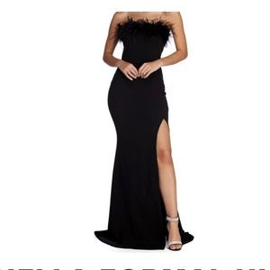 Windsor strapless floor length gown